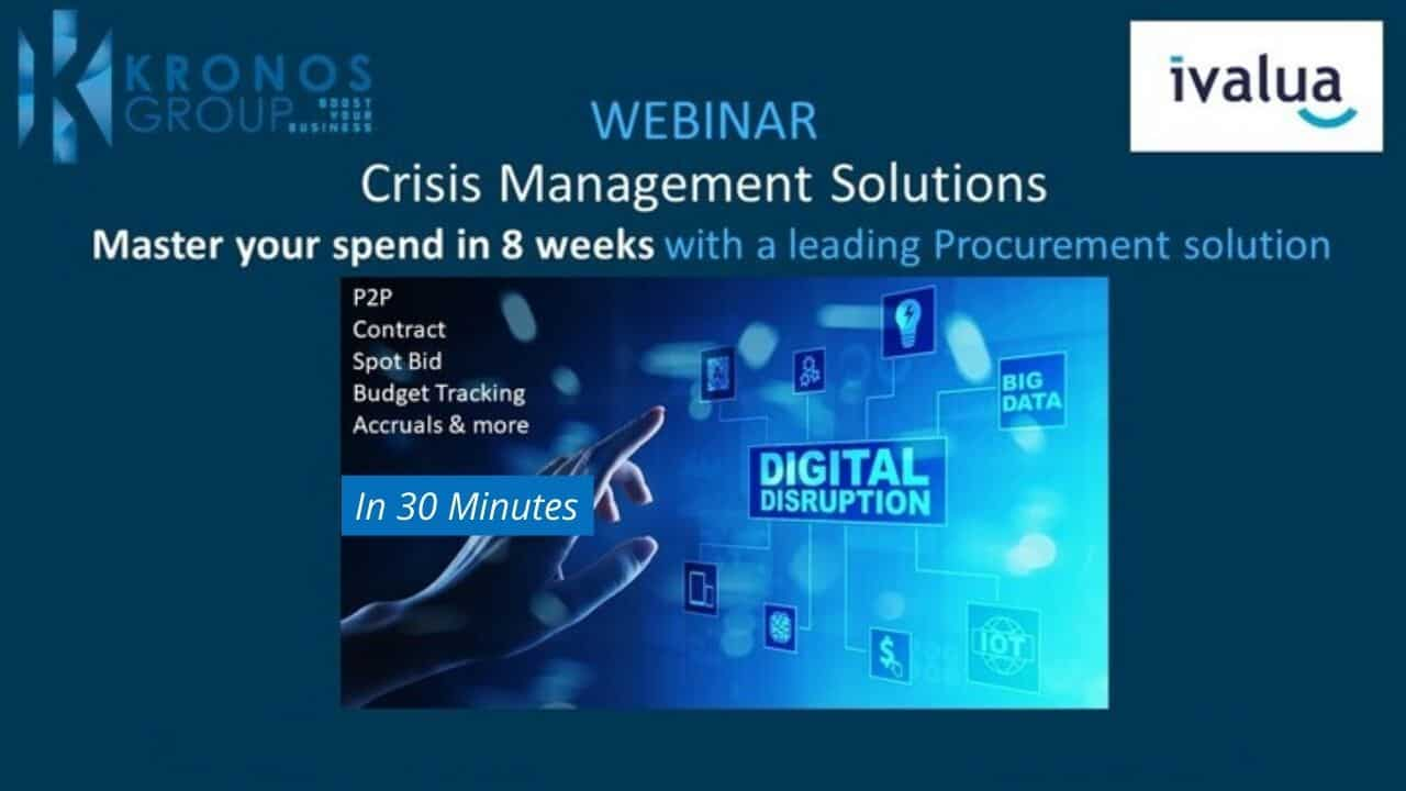 Webinar Kronos Group Master your business spend in 8 weeks